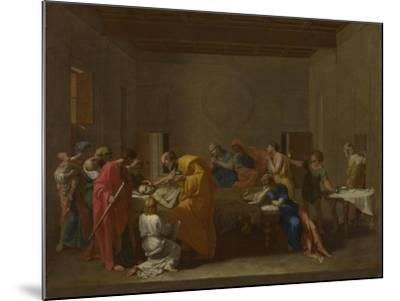 Seven Sacraments: Extreme Unction, Ca 1637-1640-Nicolas Poussin-Mounted Giclee Print