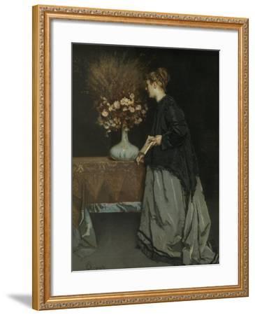 Autumn Flowers, 1867-Alfred Stevens-Framed Giclee Print