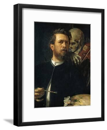Self-Portrait with Death Playing the Fiddle, 1872--Framed Giclee Print