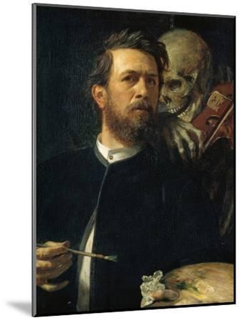 Self-Portrait with Death Playing the Fiddle, 1872--Mounted Giclee Print