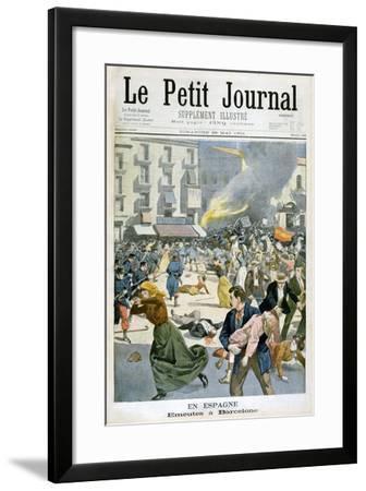 In Spain, Riots Break Out in Barcelona, 1901--Framed Giclee Print