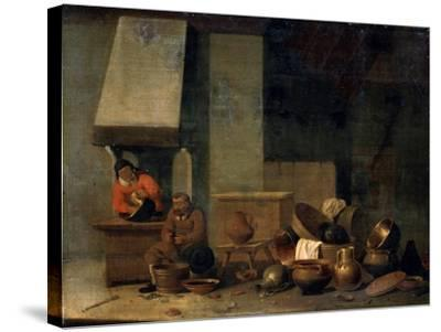The Kitchen, 17th Century--Stretched Canvas Print