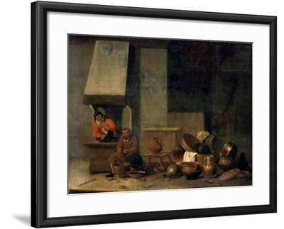 The Kitchen, 17th Century--Framed Giclee Print