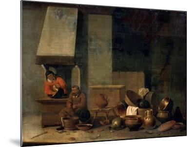 The Kitchen, 17th Century--Mounted Giclee Print