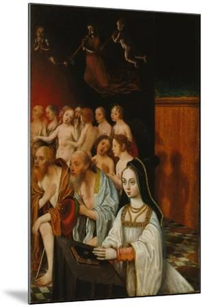 The Souls of the Just and Donor, C. 1520-Jan Mostaert-Mounted Giclee Print