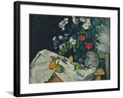 Still Life with Flowers and Fruit, 1889-1890-Paul C?zanne-Framed Giclee Print