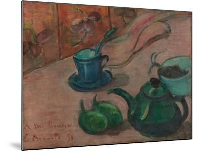 Still Life with Teapot, Cup and Fruit, 1890-Émile Bernard-Mounted Giclee Print