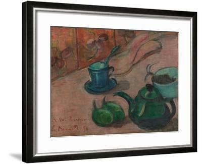 Still Life with Teapot, Cup and Fruit, 1890-Émile Bernard-Framed Giclee Print