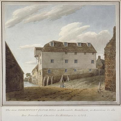 The Good Intent Flour Mill, Isleworth, Middlesex, C1802--Framed Giclee Print