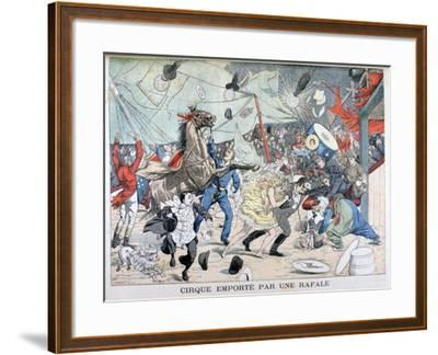 Circus Tent Blown Away, Saint Etienne, France, 1903--Framed Giclee Print