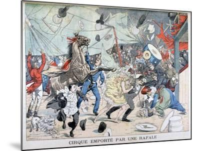 Circus Tent Blown Away, Saint Etienne, France, 1903--Mounted Giclee Print