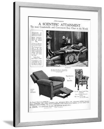 An Advertisement for 'Premier' Easy Chairs, 1926--Framed Giclee Print