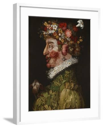 Spring (La Primaver)-Giuseppe Arcimboldo-Framed Giclee Print