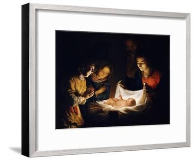 The Adoration of the Christ Child, C. 1620-Gerrit van Honthorst-Framed Giclee Print