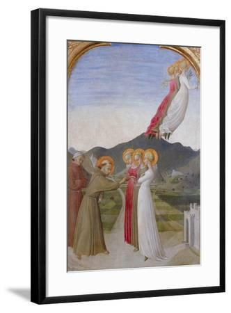 The Mystical Marriage of St. Francis of Assisi, 1444-Sassetta-Framed Giclee Print