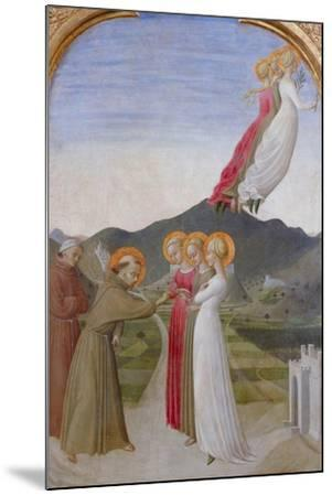 The Mystical Marriage of St. Francis of Assisi, 1444-Sassetta-Mounted Giclee Print
