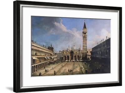 The Piazza San Marco in Venice, Ca 1723-1724-Canaletto-Framed Giclee Print