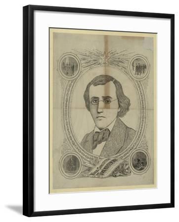 Portrait of the Revolutionary Democrat Nikolay Chernyshevsky (1828-188), 1890s--Framed Giclee Print