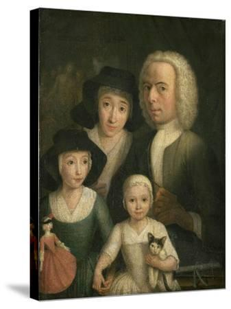 Self-Portrait with Suzanna Van Bommel and Two Daughters-Hendrik Spilman-Stretched Canvas Print