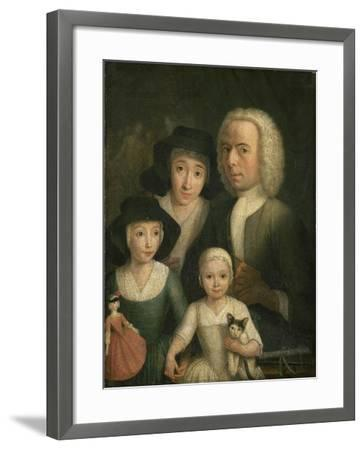 Self-Portrait with Suzanna Van Bommel and Two Daughters-Hendrik Spilman-Framed Giclee Print