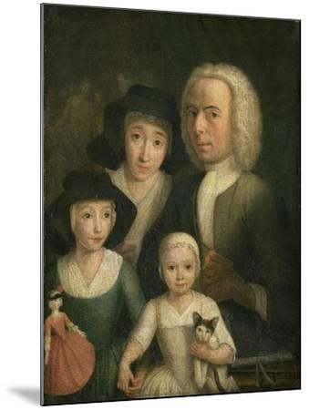 Self-Portrait with Suzanna Van Bommel and Two Daughters-Hendrik Spilman-Mounted Giclee Print