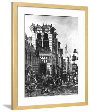 Popular Schools in the Heart of Cairo, Egypt, 1880--Framed Giclee Print