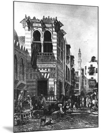 Popular Schools in the Heart of Cairo, Egypt, 1880--Mounted Giclee Print