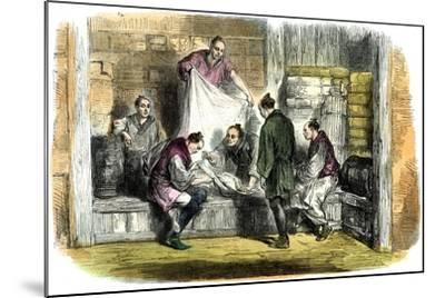 Buying Camlets in a Shop, Yokohama, Japan, 1865--Mounted Giclee Print