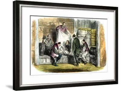 Buying Camlets in a Shop, Yokohama, Japan, 1865--Framed Giclee Print