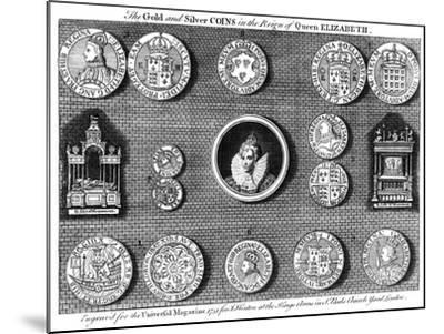 The Gold and Silver Coins in the Reign of Queen Elizabeth, 1751- Eldridge-Mounted Giclee Print