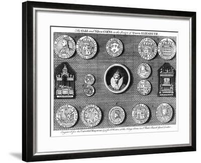 The Gold and Silver Coins in the Reign of Queen Elizabeth, 1751- Eldridge-Framed Giclee Print