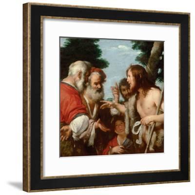 The Sermon of Saint John the Baptist, C. 1644-Bernardo Strozzi-Framed Giclee Print