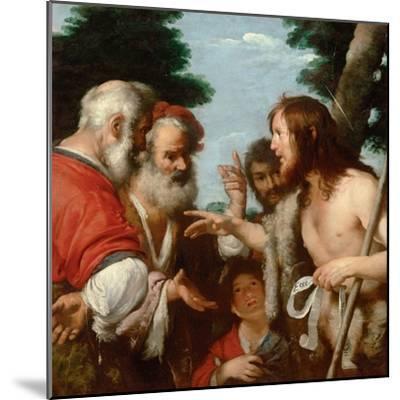 The Sermon of Saint John the Baptist, C. 1644-Bernardo Strozzi-Mounted Giclee Print