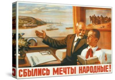 The People's Dreams Have Come True!, 1950-Alexey Ivanovich Lavrov-Stretched Canvas Print