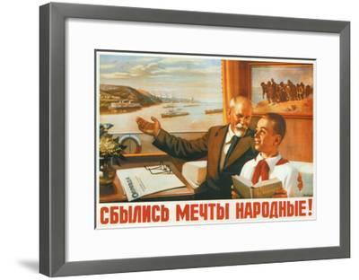 The People's Dreams Have Come True!, 1950-Alexey Ivanovich Lavrov-Framed Giclee Print