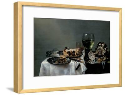 Breakfast Table with Blackberry Pie, 1631-Willem Claesz Heda-Framed Giclee Print