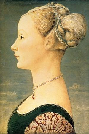 Portrait of a Woman, Second Half of the 15th C-Piero del Pollaiuolo-Stretched Canvas Print