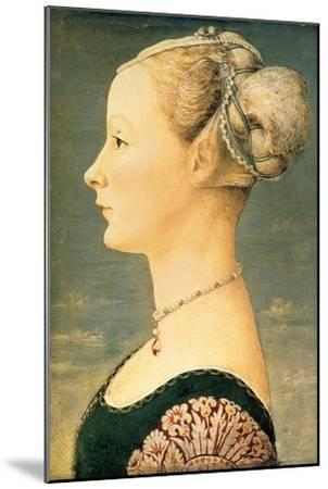 Portrait of a Woman, Second Half of the 15th C-Piero del Pollaiuolo-Mounted Giclee Print
