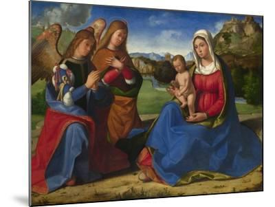 The Virgin and Child Adored by Two Angels, C. 1505-Andrea Previtali-Mounted Giclee Print