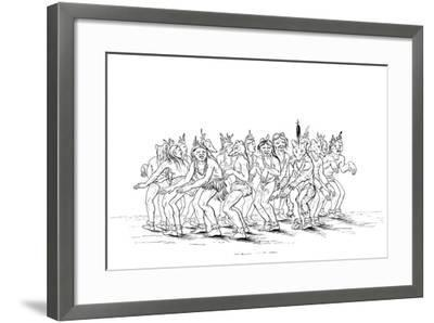 The Sioux Tribe Performing a Bear Dance, 1841-Myers and Co-Framed Giclee Print