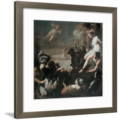 Clorinda Rescues Olindo and Sophronia, 1645-Mattia Preti-Framed Giclee Print