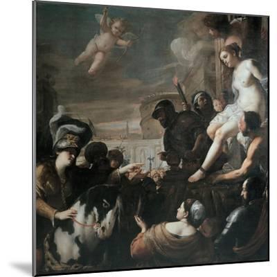 Clorinda Rescues Olindo and Sophronia, 1645-Mattia Preti-Mounted Giclee Print