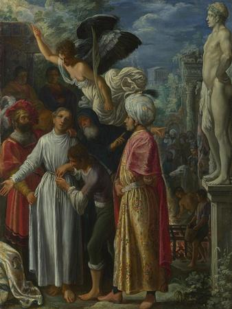 Saint Lawrence Prepared for Martyrdom, Ca 1601-Adam Elsheimer-Framed Giclee Print