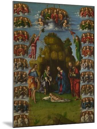 The Adoration of the Shepherds with Angels, 1499-Lorenzo Costa-Mounted Giclee Print