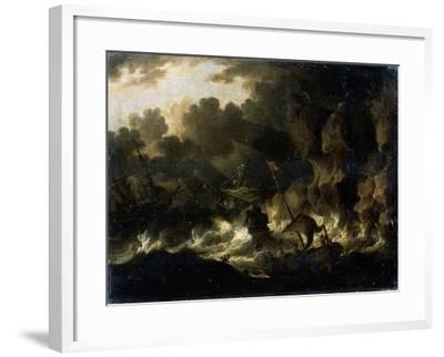 Stormy Sea, 17th Century--Framed Giclee Print