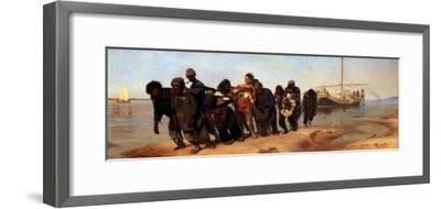 Barge Haulers on the Volga, 1872-1873-Ilya Yefimovich Repin-Framed Giclee Print