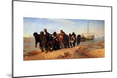 Barge Haulers on the Volga, 1872-1873-Ilya Yefimovich Repin-Mounted Giclee Print