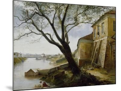 Over the Yauza River in Moscow, 1860-Alexander Pavlovich Popov-Mounted Giclee Print