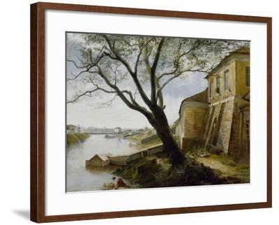 Over the Yauza River in Moscow, 1860-Alexander Pavlovich Popov-Framed Giclee Print