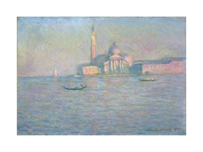 The Church of San Giorgio Maggiore, Venice, 1908-Claude Monet-Framed Giclee Print